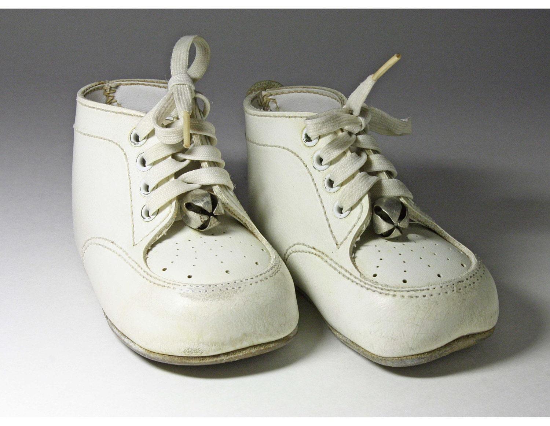 Vintage Baby Shoes Bells Made Hong Kong