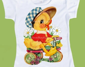 Baby Duck, Duckling T-Shirt, Bike Chick, Chick on Trike by ChiTownBoutique