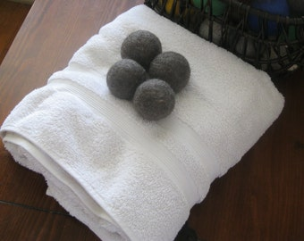 Felted Wool Dryer Balls-set of 6 Dye free