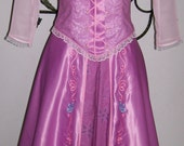 Last One   ADULT Tangled Rapunzel Custom Gown Embroidered Skirt New 2 4 6 8 10