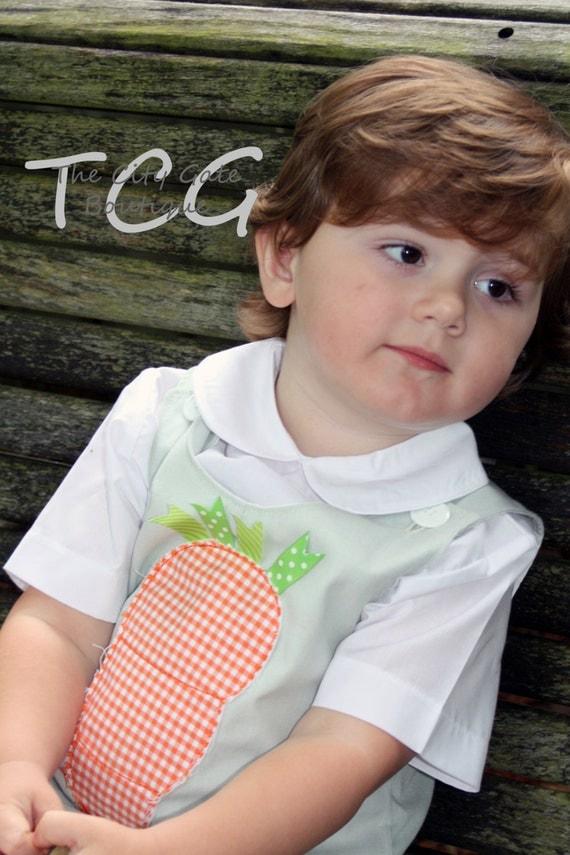 Baby Boys Custom Made Jon Jon with Monogram or Applique Sizes 3M - 24M