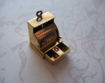 Adorable Cash Register Charm Working Drawer