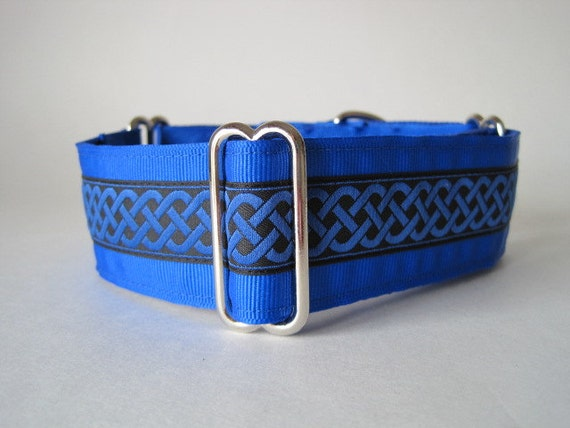 "1.5"" Martingale Collars, Celtic Martingale Collar, Celtic Dog Collar, Blue, Green, Red, Jacquard, Custom Dog Collar, Greyhound Collar"