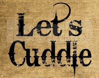 INSTANT DOWNLOAD - Let's Cuddle - Download and Print - Image Transfer - Digital Sheet by Room29 - Sheet no. 828