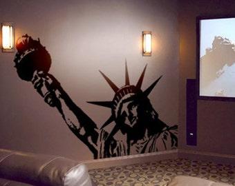 Vinyl Wall Decal Sticker BIG Statue of Liberty 8ft Wide X 4.8ft Tall item122A