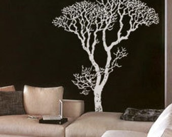 Vinyl Wall Decal Sticker Bare Tree Decoration 240