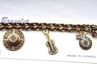 Vintage 1960s Souvenir Charm Bracelet // New Old Stock