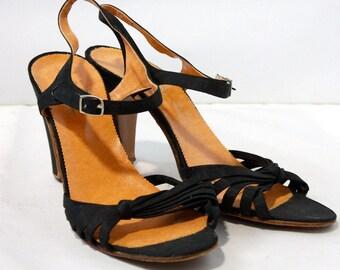 Vintage 1960s Baymart Hudson's Bay Strappy Heels // Womens size 7