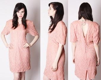 Coral Pastel Pink Silk Sequin Art Deco Cocktail Dress / Silk Sequin Cocktail Dress / Pastel Sequin Dress / Short Sequin Dresses / 2026