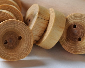 set of 4  • Acacia wooden button