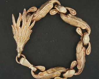 Mens Chinese Phoenix Braclet in Antique Bronze