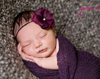 baby flower headband, Newborn Headband, Baby Headband, Small FLower Headband