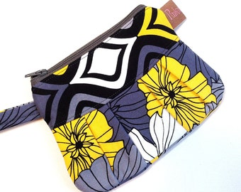 Wristlet, Clutch, Cell Phone Case, Bright Flower Print