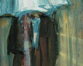 Rainy Day People -  ABSTRACT FIGURE PORTRAIT Giclee print from my original oil painting