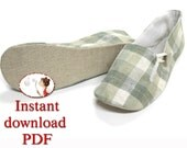 Sewing Shoes Pattern. Women's. Loafer. Slippers. pdf. diy. printable. picture. tutorial. sewing instructions