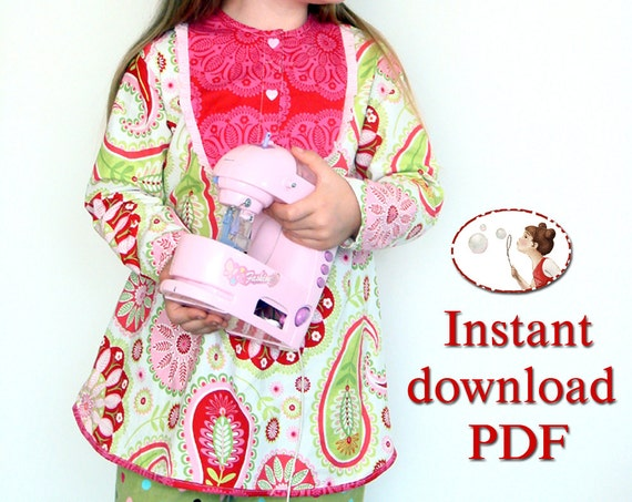 Boho toddler tunic - pdf Sewing pattern and picture tutorial - baby, toddler, kid - sizes 12-18M to 6T - 86EU to 116Eu