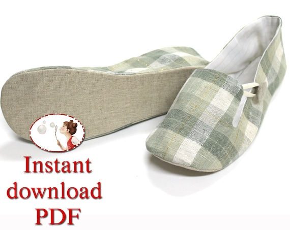 Sewing Shoes Pattern Women S Loafer Slippers Pdf Diy