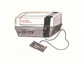 NES Console, 8x8 print