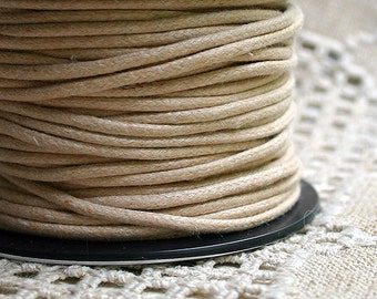 2mm Cotton Cord Natural 25-meter spool - Many Colors