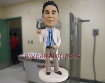 Doctor cake topper birthday cake topper figurine doll