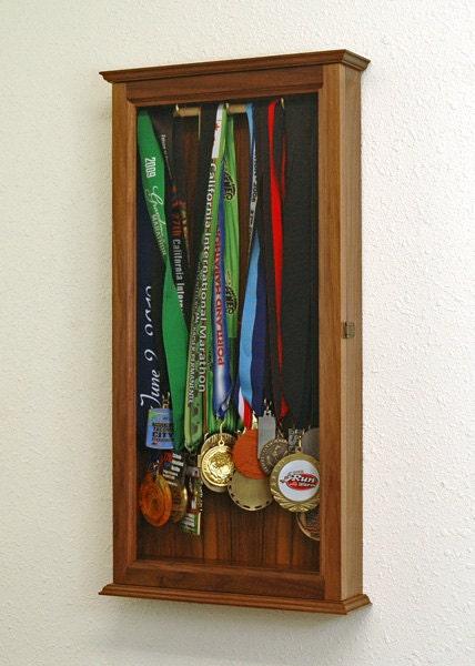 Marathon Sports Medal Display Case Wall Cabinet