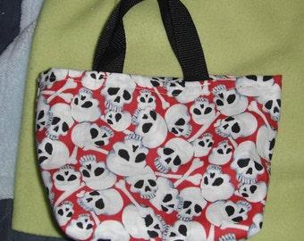 Red Skull Mini Tote Bag
