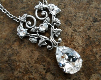 Swarovski Elegance Necklace Exclusively by Enchanted Lockets, Wedding Jewelry, Special Occasion Jewelry, Prom Jewelry