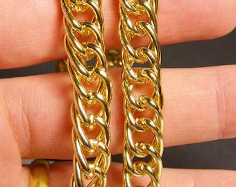 Gold chain - lead free nickel free won't tarnish - 1 meter - 3.3 feet - aluminum chain