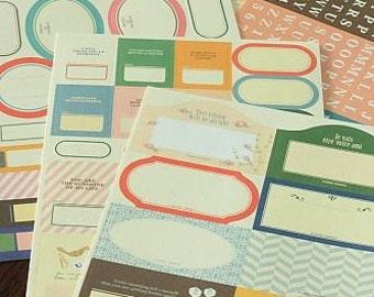Label Sticker Set-Day Planner Stickers-Japanese Sticker Set-Super Cute-Organization-Decorating your stuff