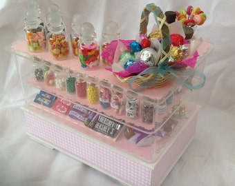 Dolls House Miniatures -  Candy Store / Sweet Shop Counter