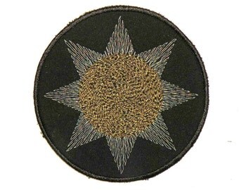 Midnight Sun Iron on Patch 4""