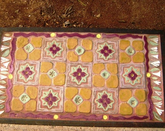 Magic Carpet Tile Floor Rug Indoors or out, made to order