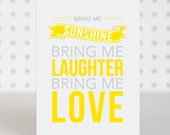 Bring Me Sunshine Birthday Card