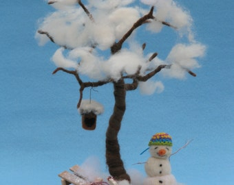Needle felted seasonal tree