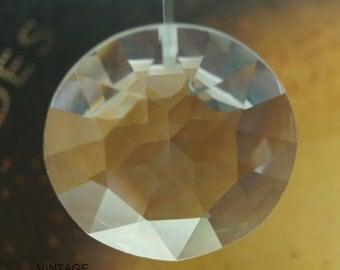 Vintage Swarovski Heavily Faceted 27mm Crystal 6203 Pendant (1)