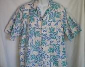 Vintage Hawaiian Shirt by HRH Kahala Reverse Print size XL
