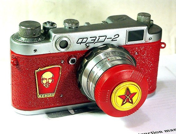 1956 antique Red Star FED-2 camera rare RUSSIAN LEICA Red-Lenin  -from RussianVintage