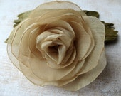 CHAMPAGNE Wedding Hair Flower, Champagne Rose Hair Flower, Champagne Bridal Accessories, Champagne Wedding,  Weddings, Flower Girl Hair Clip