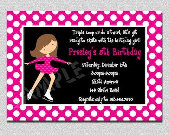 Ice Skating Birthday Invitations Ice Skating Party Invitation 2 Printable