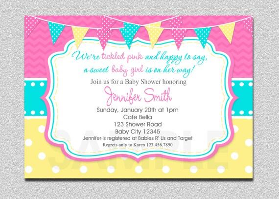 pink baby shower invitation pink baby shower invitation on etsy