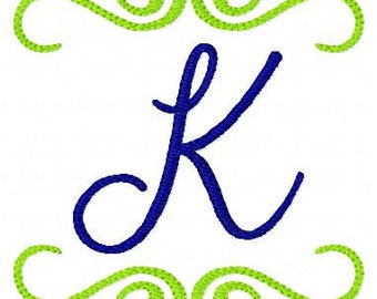 Southern Style Monogram Design Set 4 Machine Embroidery Monogram Font // Joyful Stitches