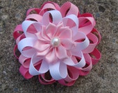 Shades of pink Loopy Hair  Bow