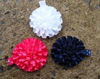 3 Flower Hair Clips You Pick any THREE