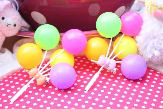 Kawaii  Bright Balloon Hair Clip