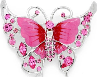Rose Pink Butterfly Pin Brooch 1003612