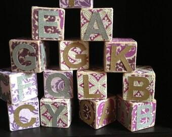 Baby kids name wood blocks - wooden block - kids room decor - nursery wall letters - personalized name blocks - custom baby gift