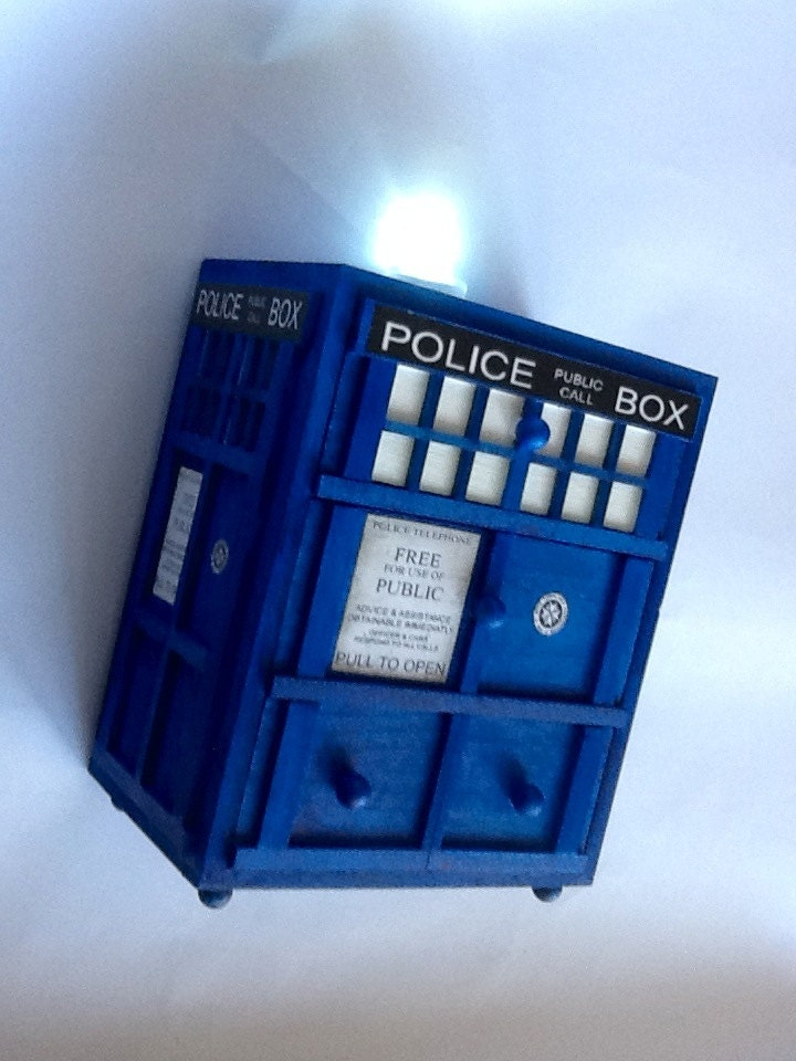 dr who police box jewelry box 1