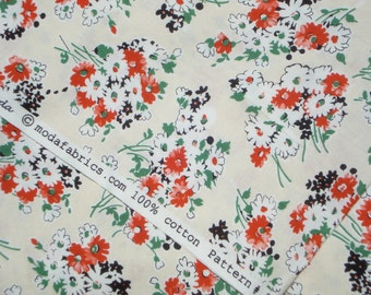American Jane Building Blocks Daisy Bouquet cream moda fabrics FQ or more