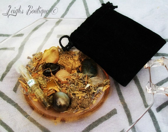 Grounding and Protection Magic Mojo Hoodoo Pouch