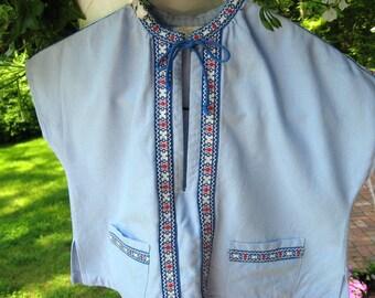 Pale Blue Child's Jacket with Woven Trim / Peter Rabbit look / Sweet Vintage / Children's Vintage